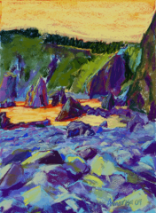 Tichenor's Cove Afternoon, 12x9, SOLD