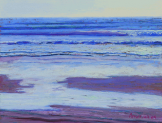 Purple Port Orford January, 9x12, SOLD